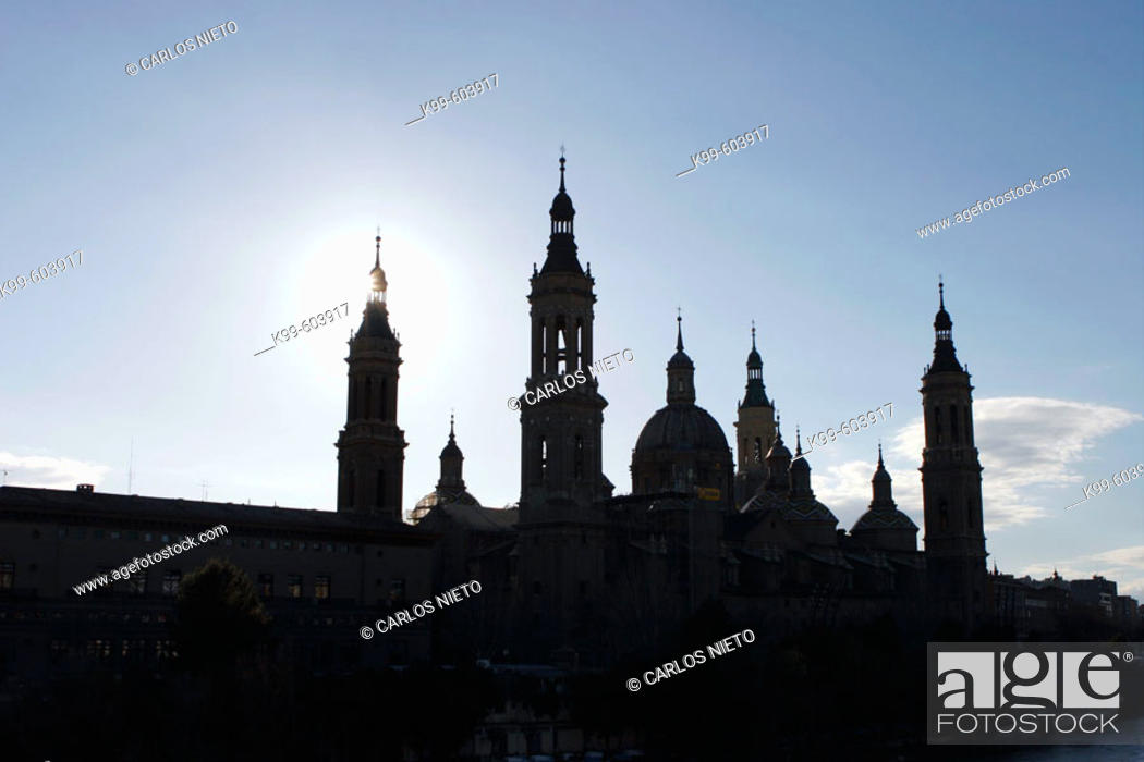 Stock Photo: Basilica of Nuestra Señora del Pilar.  Zaragoza. Aragón, Spain.