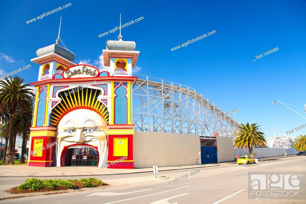 Stock Photo: The Melbourne's Luna Park.