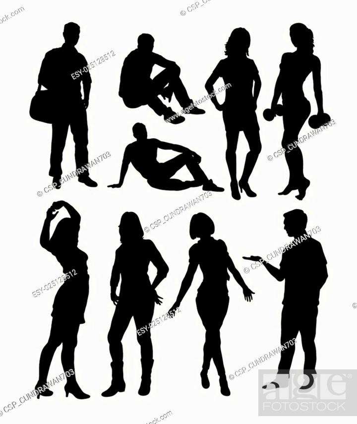 Stock Vector: People activity silhouettes.