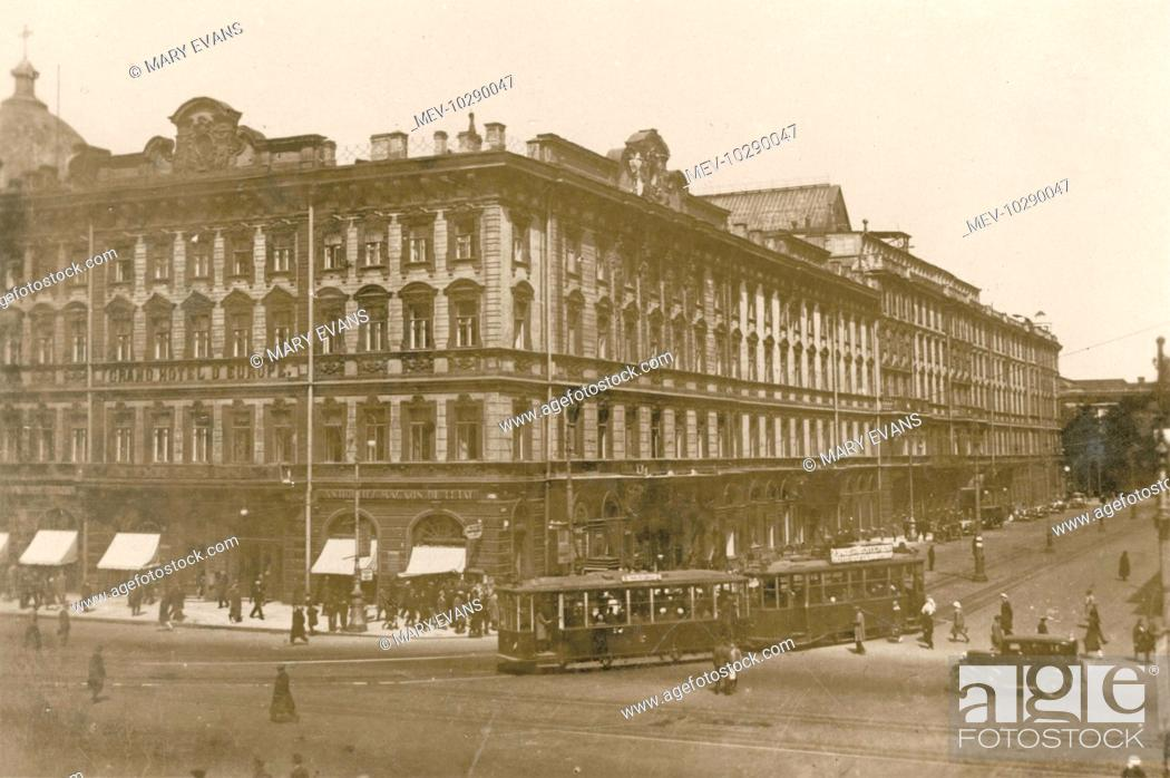 View Of The Grand Hotel D Europe On The Corner Of Rue Michel St Petersburg Russia Stock Photo Picture And Rights Managed Image Pic Mev 10290047 Agefotostock