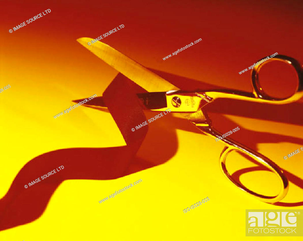 Stock Photo: Scissors and tape.