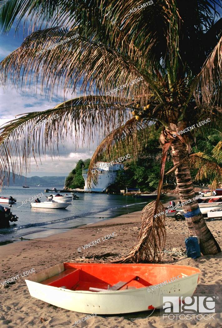 Stock Photo: French Caribbean - Caribbean Islands - The Saintes - Terre de Haut - Mire Cove.