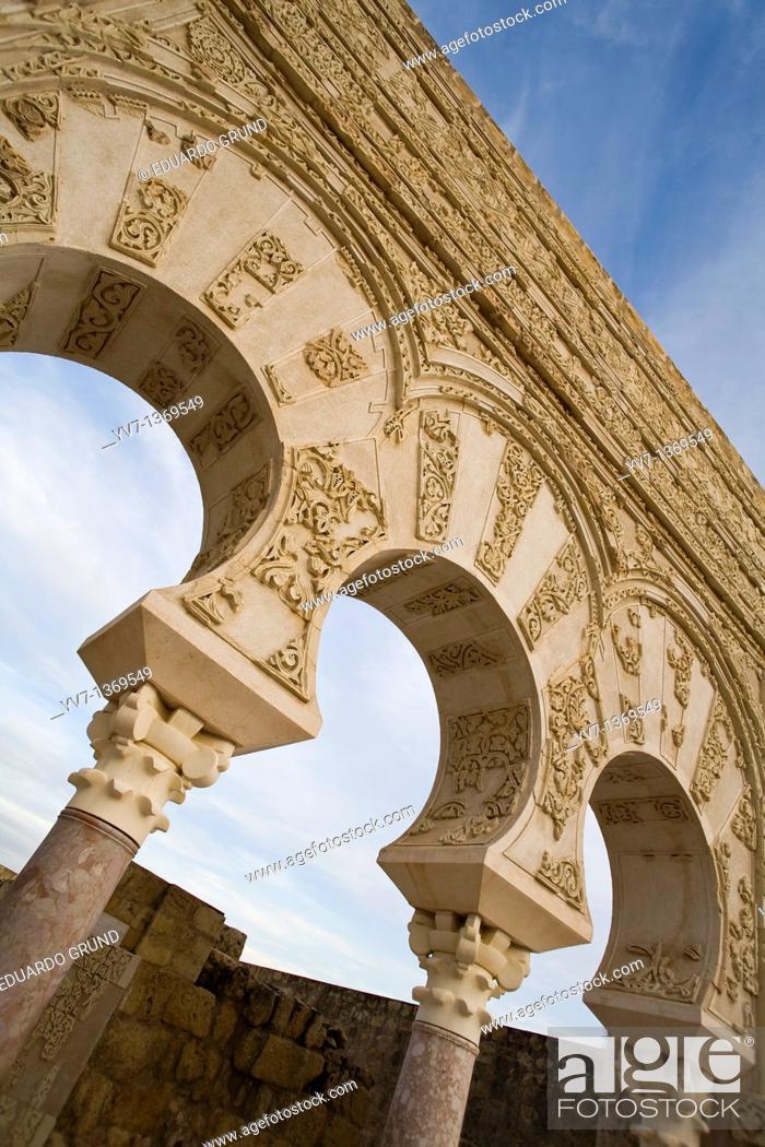 Stock Photo: Door of the house of Ya'far  Madinat al-Zahra Medina Azahara, Cordoba, Andalusia, Spain.