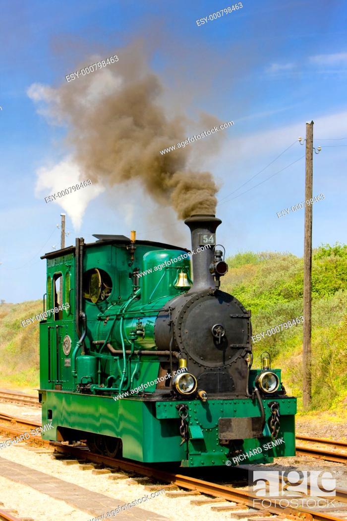 Stock Photo: steam tram, RTM, Ouddorp, Netherlands.