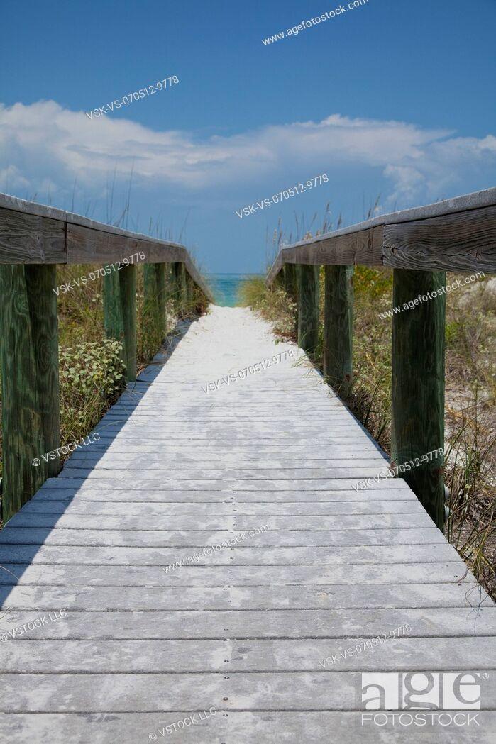 Imagen: USA, Florida, St. Petersburg, Pathway on beach.