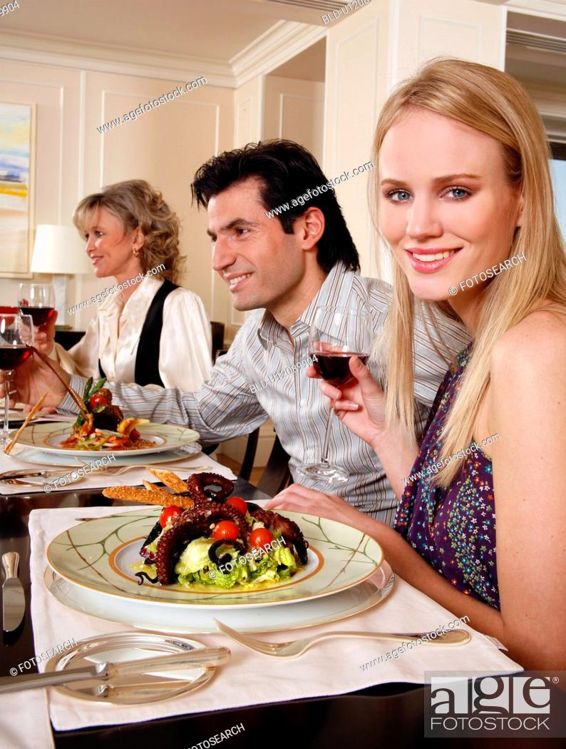Stock Photo: People dining.