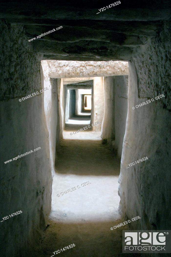 Stock Photo: Ghadames, Libya - Jarasan Street, Tunnel Passageways.