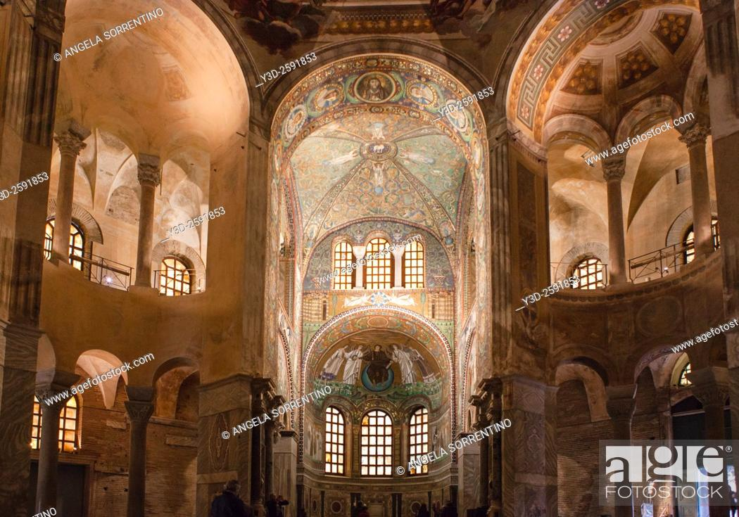 Imagen: Basilica of San Vitale, It is one of eight Ravenna structures inscribed on the UNESCO World Heritage List.