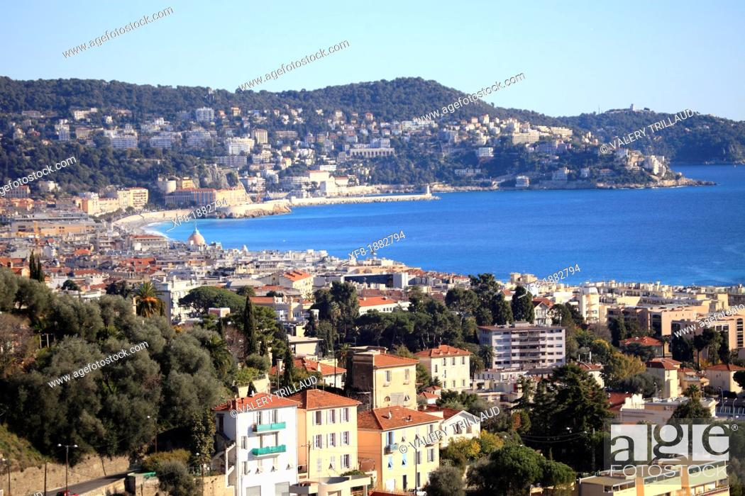 Stock Photo: Nice, Alpes-Maritimes, 06, French Riviera, Cote d'Azur, PACA, France.