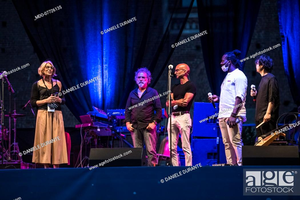 Imagen: artistic director Lazare Ohandja presents Taranta preview of the Contaminafro Festival 2020 at the Sforzesco Castle in Milan. Milan (Italy), July.