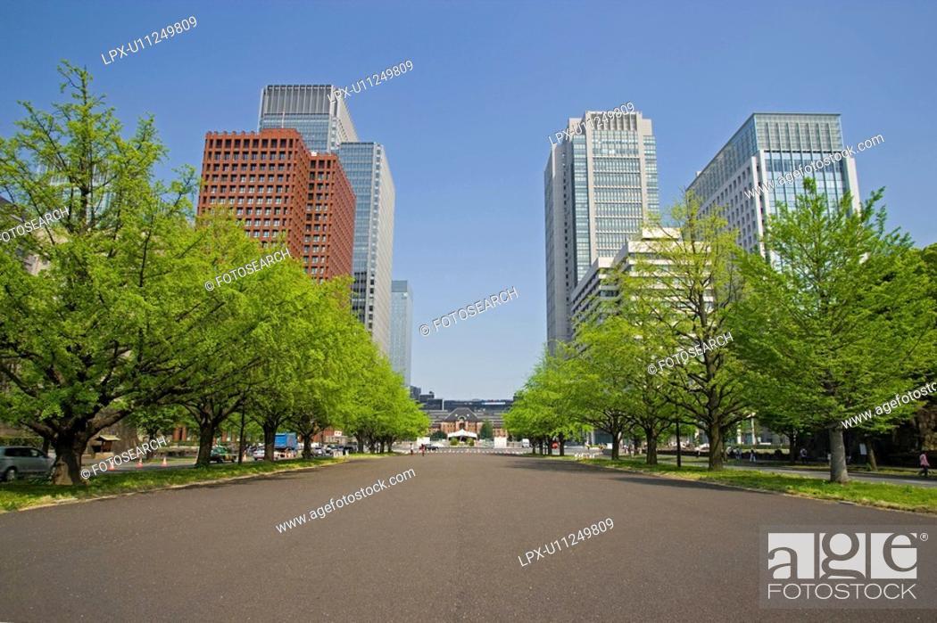 Stock Photo: Tokyoekimae street.