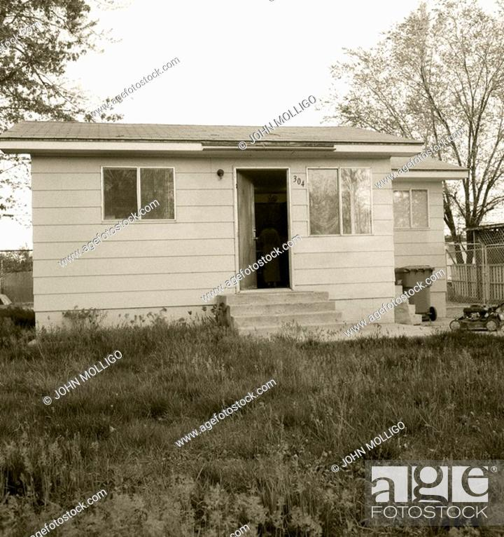 Stock Photo: Shack house in Garden City, Idaho.