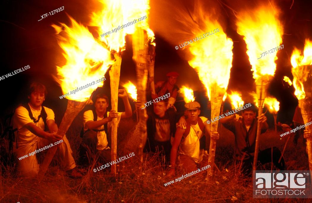 Stock Photo: Falles of Taüll feast in July Taüll  Boí valley Lleida province  Catalonia  Spain.