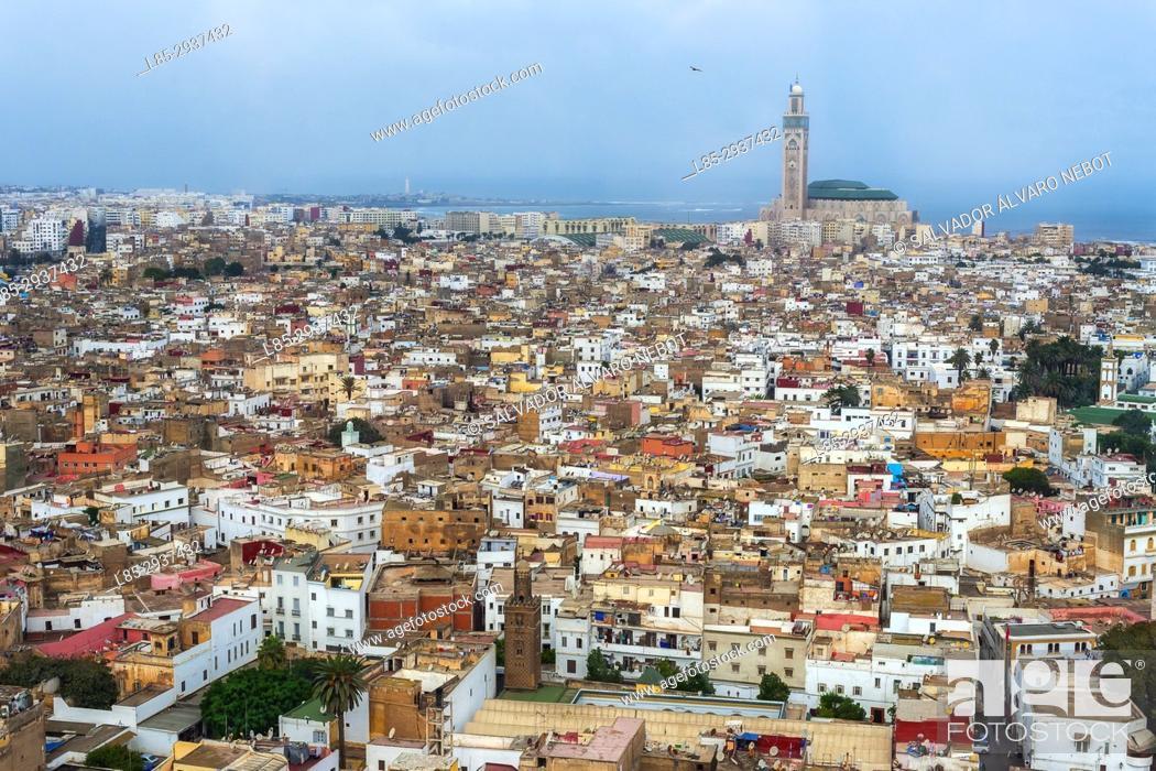 Stock Photo: Panoramic view from Sofitel Hotel, Casablanca, Morocco.
