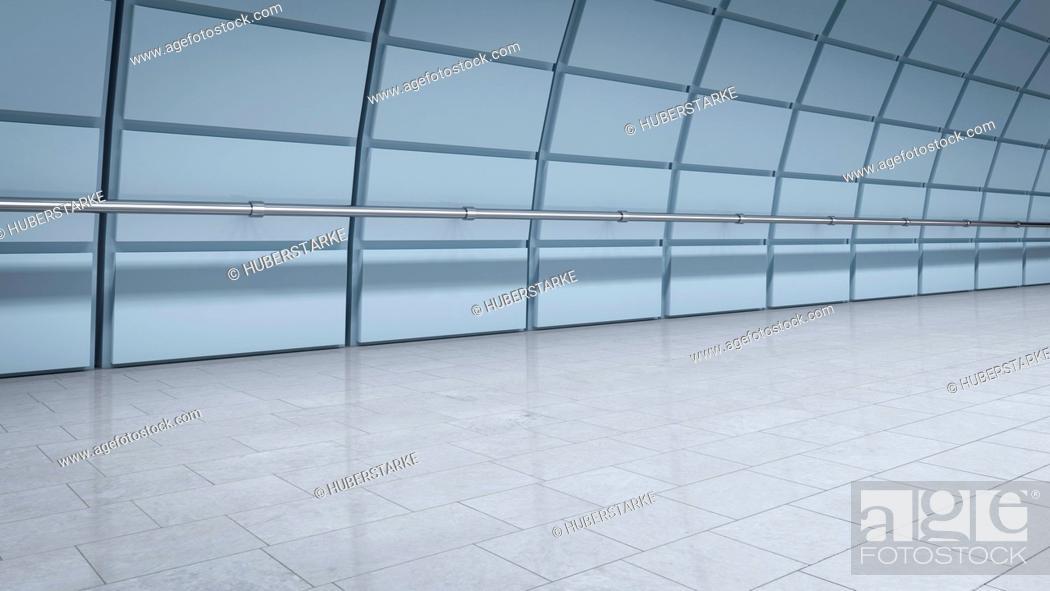 Stock Photo: Modern underground tunnel.