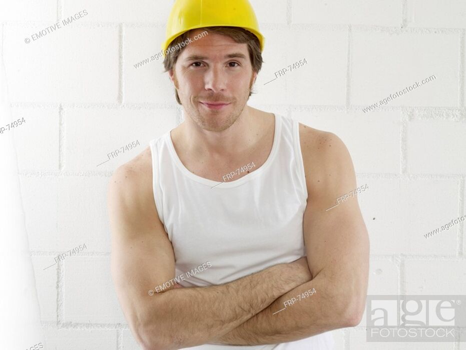 Stock Photo: Construction worker.