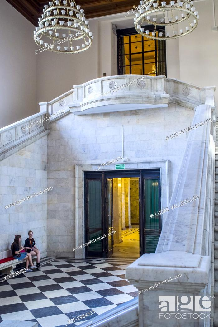Imagen: Interior, Palace of Culture and Science, Warsaw, Poland.