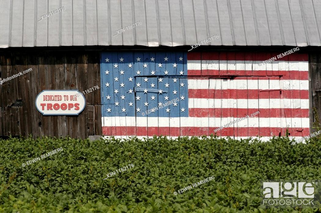 Stock Photo: Tobacco barn in Maryland.