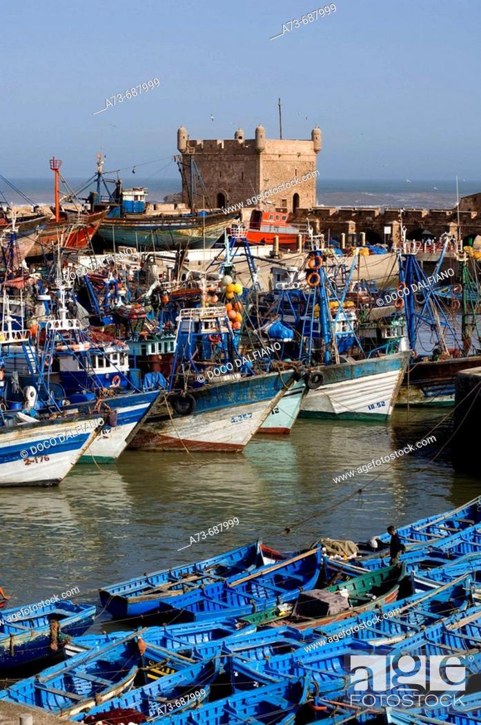 Stock Photo: Fishing port, Essaouira. Morocco.