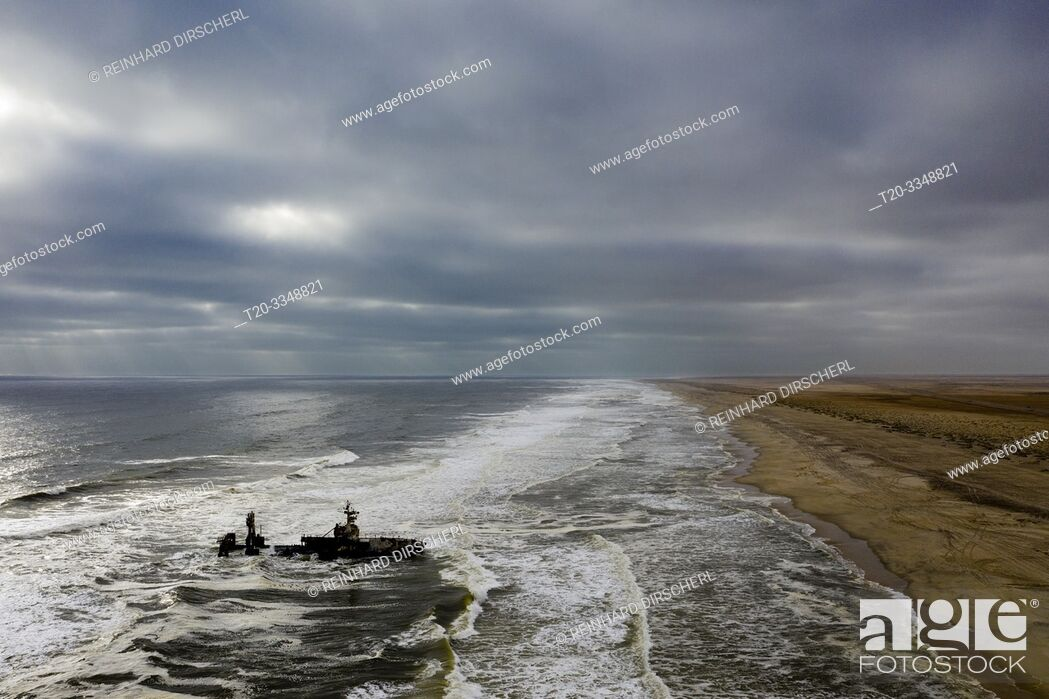 Stock Photo: Shipwreck Zeila at Skeleton Coast, Henties Bay, Namibia.