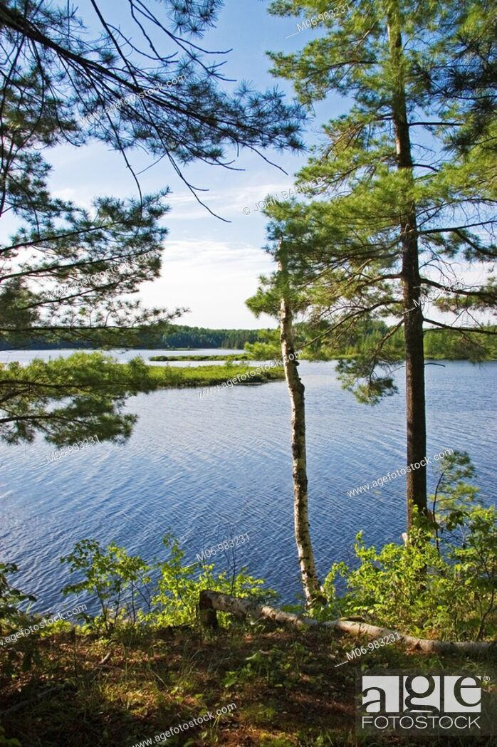 Stock Photo: Overlooking Day Lake in the Chequamegon-Nicolet National Forest, Wisconsin USA.