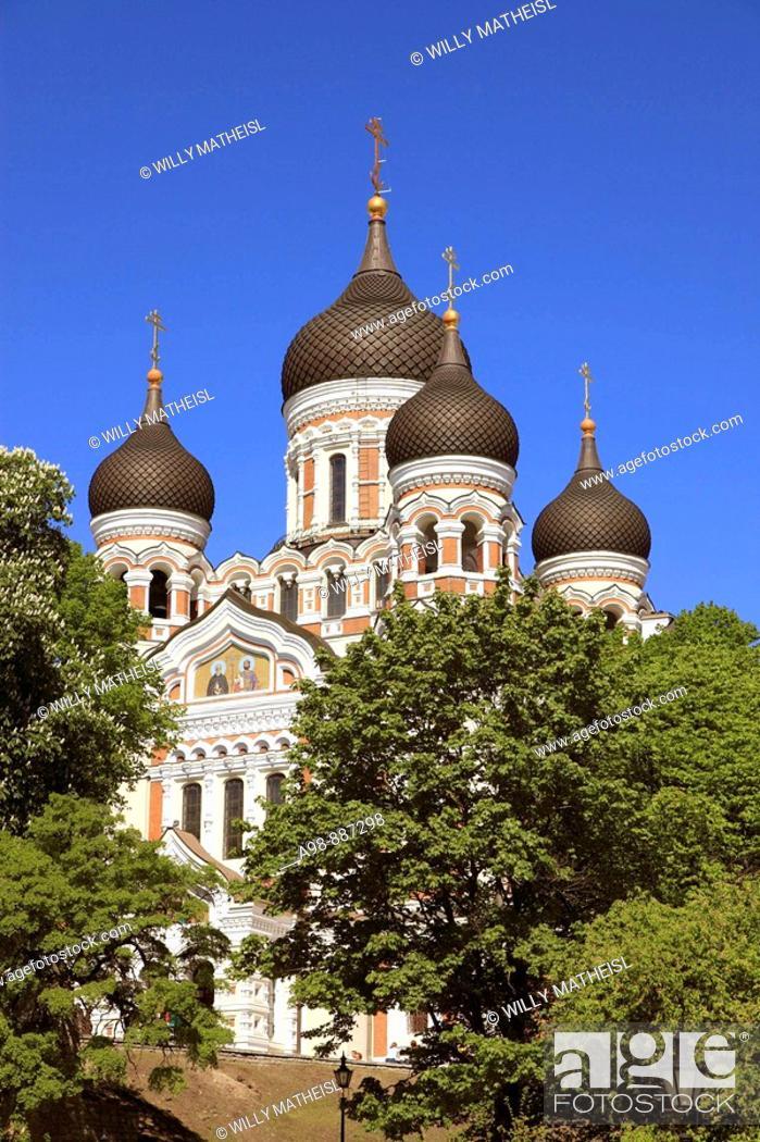 Imagen: Alexander Nevski Cathedral Tallinn, Estonia, Baltic States, Northeast Europe.