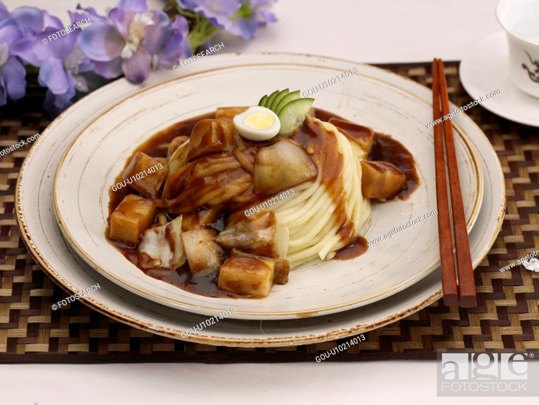 Stock Photo: dishes, Food styling, dish, dishes, dish, Chinese, old-style Zhajiangmian.