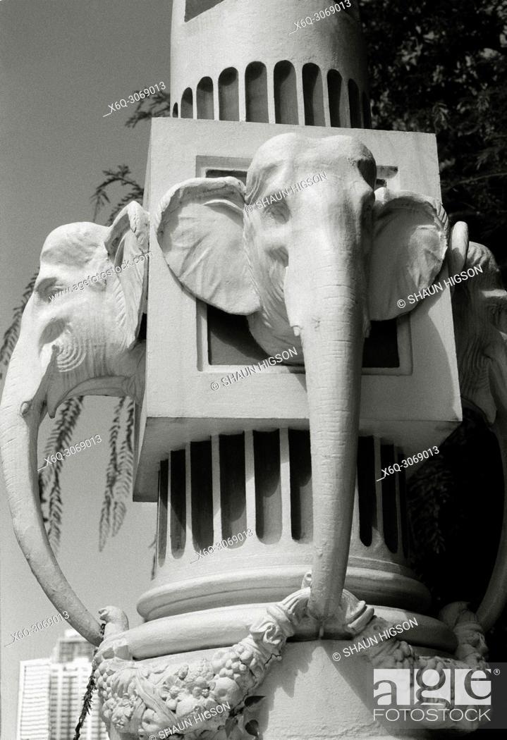 Stock Photo: Elephant Head Bridge in Bangkok in Thailand in Southeast Asia Far East.