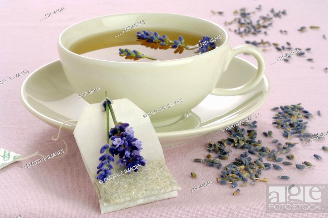 Stock Photo: Lavender tea.