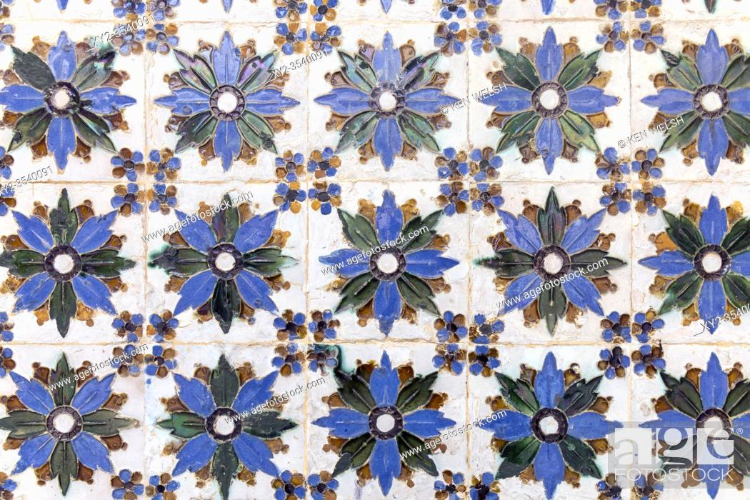 Imagen: Ceramic tile work in the Casa de Pilatos, or Pilateâ. . s House, Seville, Seville Province, Andalusia, southern Spain.