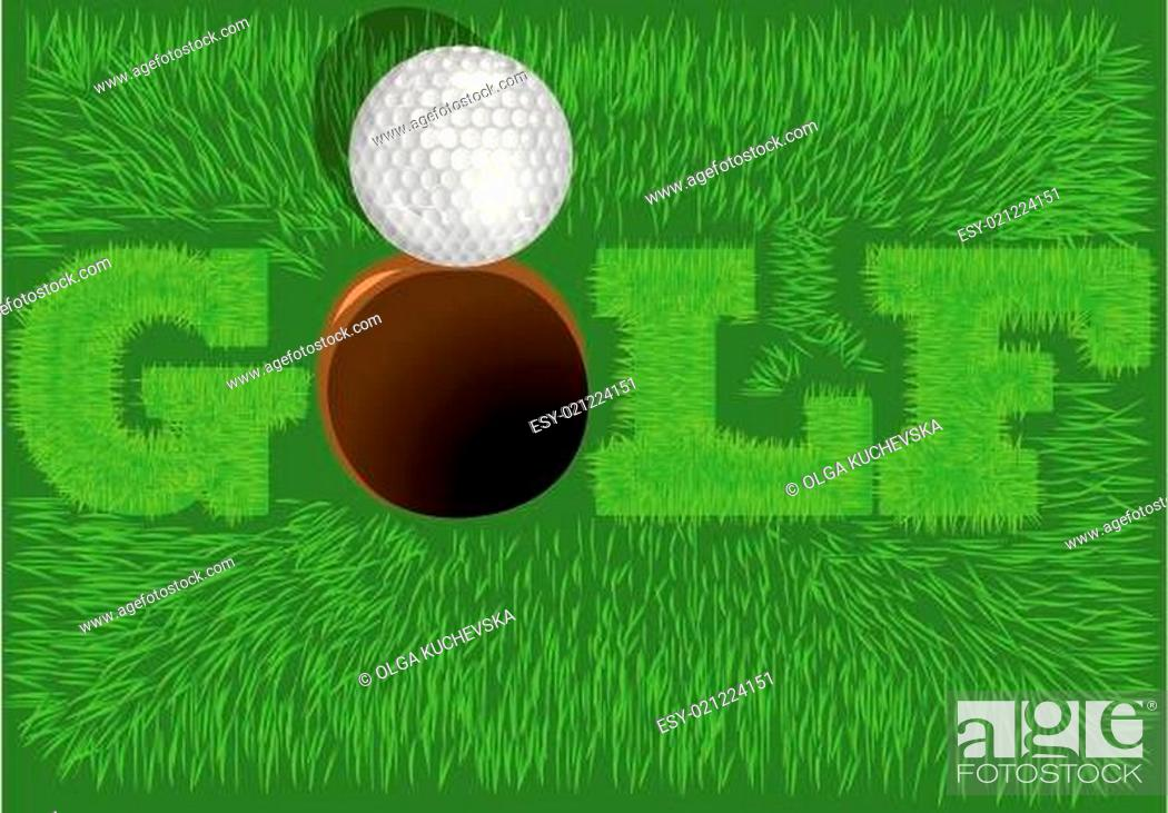 Stock Vector: inscription golf.
