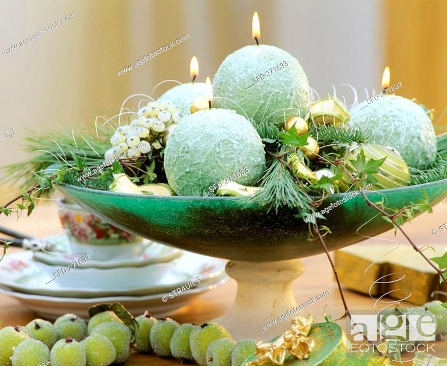 Stock Photo: Exotic Advent wreath.