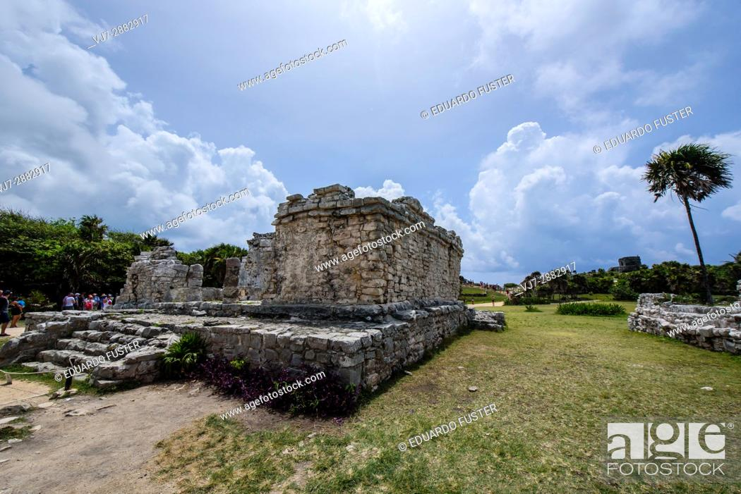 Stock Photo: Structure in the mayan site of Tulum, Quintana Roo (Mexico).