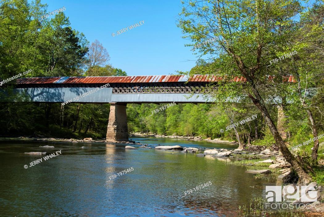 Stock Photo: Covered Bridge, Alabama.