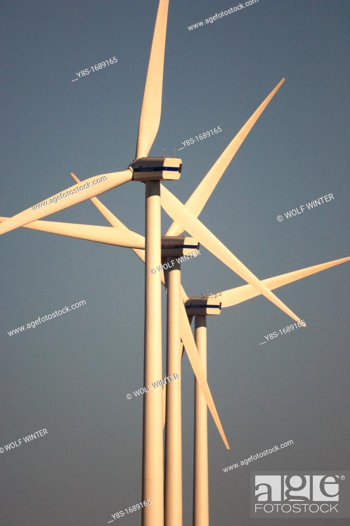 Stock Photo: Rabacal Vestas Wind Farm, Portugal.