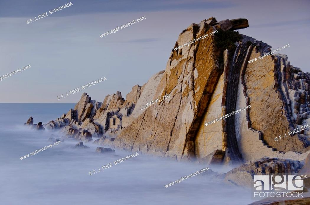 Stock Photo: Seaside scenes at Sopelana and Azkorri beachs in Bilbao coastline  Northem Spain.