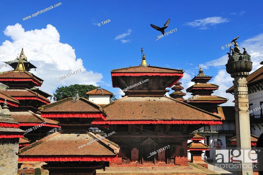 Stock Photo: Hanuman Dhoka Durbar world heritage monument zone.