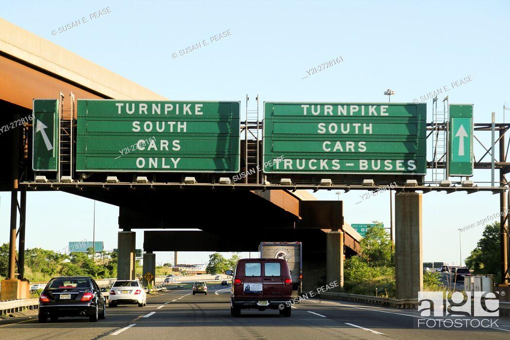 Stock Photo: Driving, New York/New Jersey highways, United States, North America.