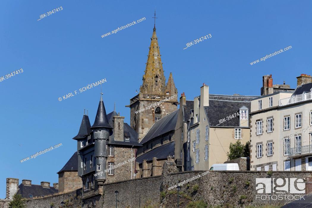 Imagen: Historic historic centre, Haute Ville, Granville, Département Manche, Cotentin Peninsula, Lower Normandy, France.