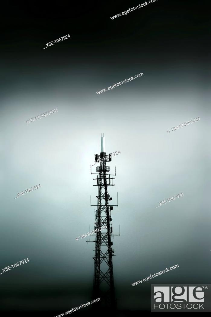 Stock Photo: Communications mast.