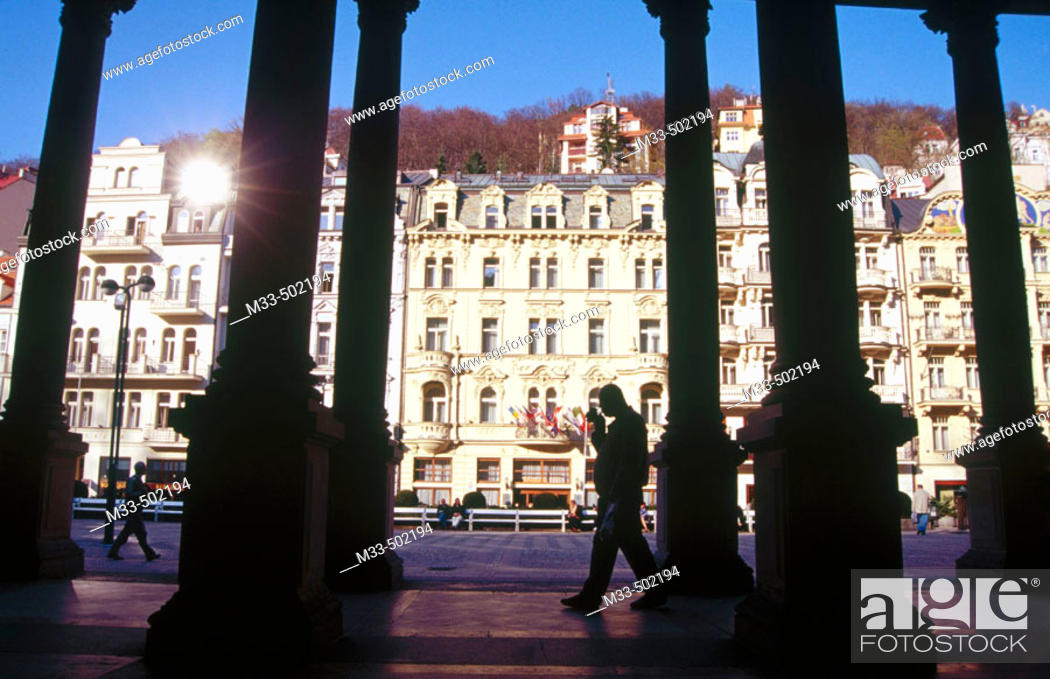 Stock Photo: Colonnade. Karlovy Vary. Czech Republic.