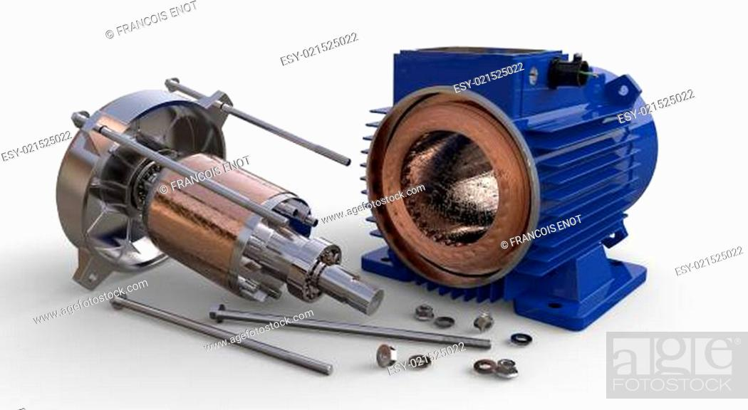 Stock Photo: Opened electric motor.