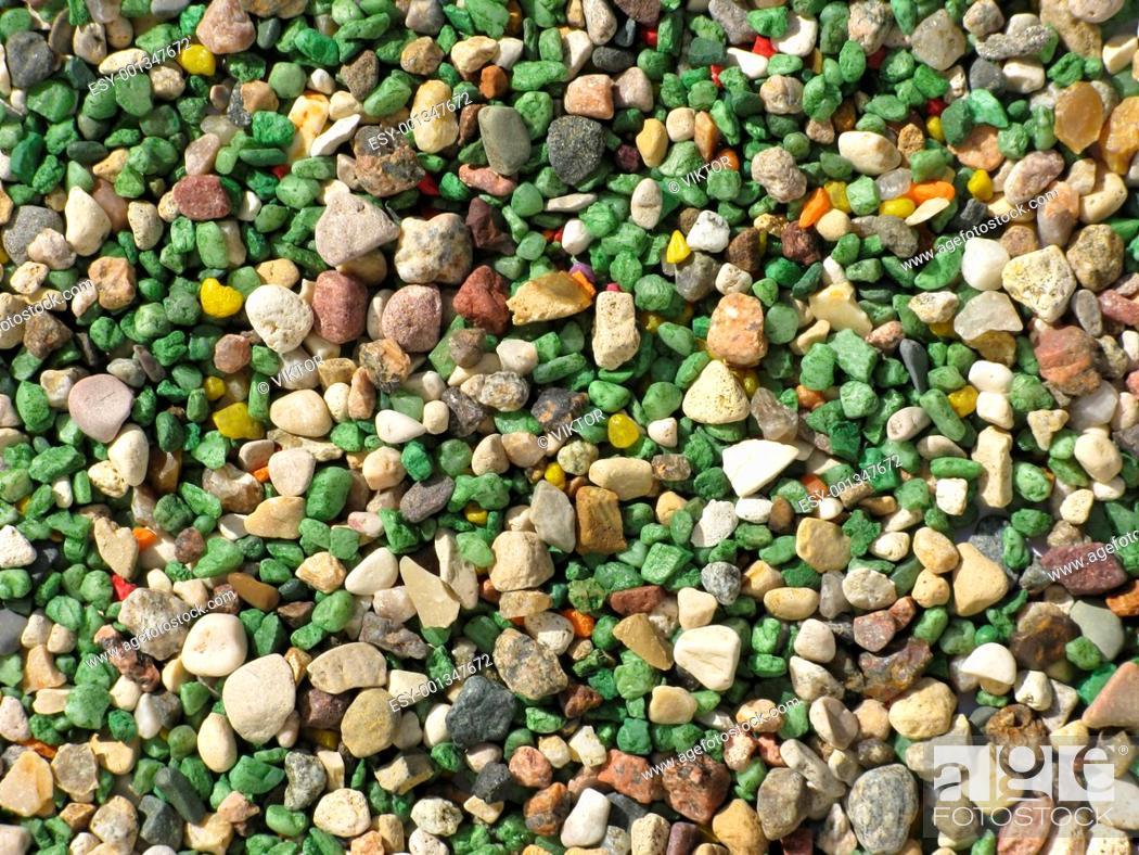 Imagen: Color gravel background texture.