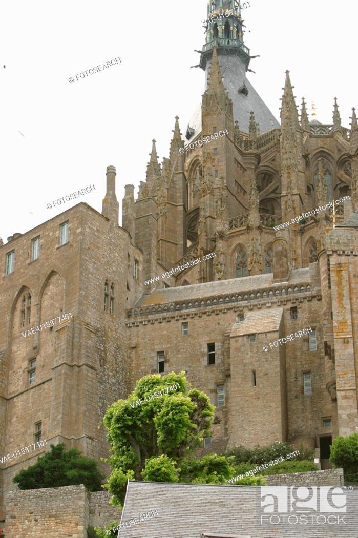 Stock Photo: Architecture, Conifers, Castle, Building, Ancient.