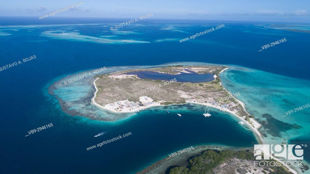 Stock Photo: Aerial View, pirate cay Waterscape Archipelago los roques venezuela.