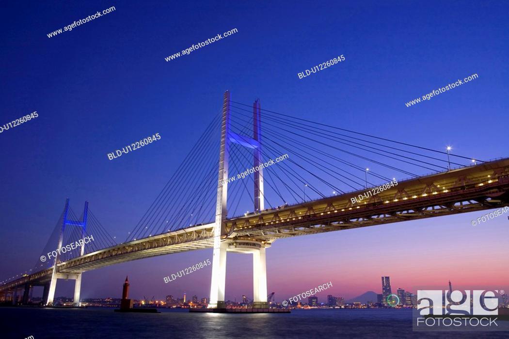 Stock Photo: Yokohama bay bridge.