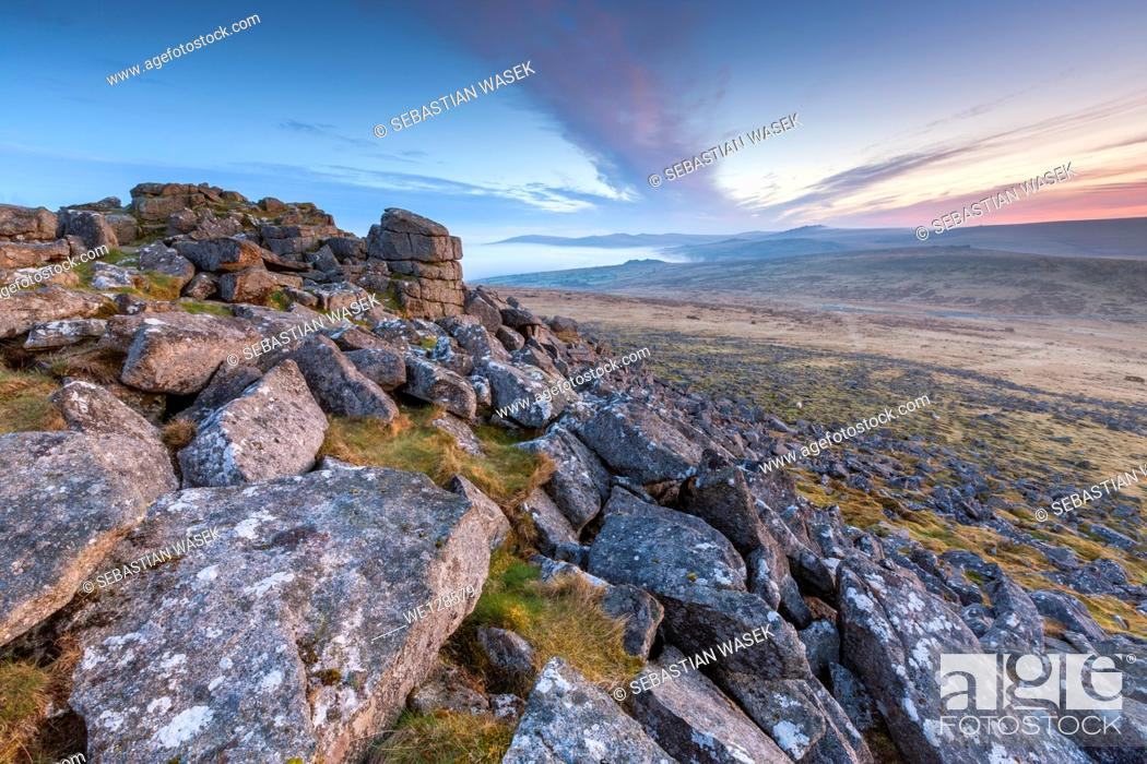 Stock Photo: Sharpitor, Dartmoor National Park, Sheepstor, West Devon, England, UK, Europe.