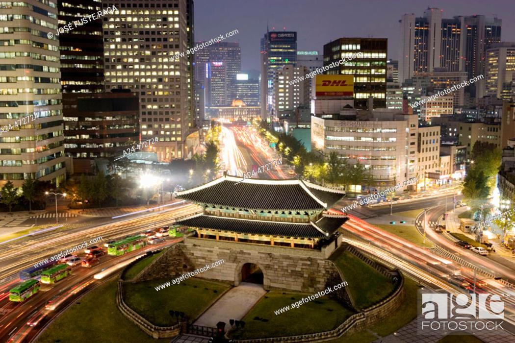 Stock Photo: South Gate (Namdaemun), Seoul. South Korea.