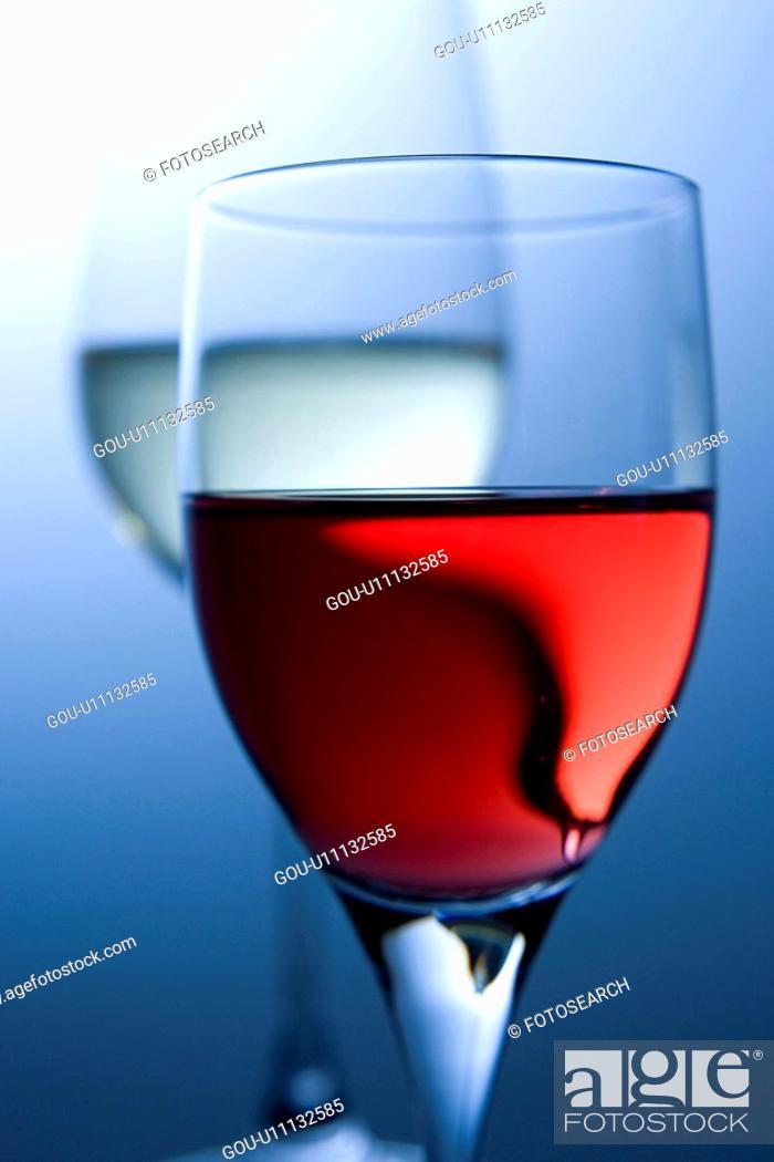 Stock Photo: Close-up of wine glass.