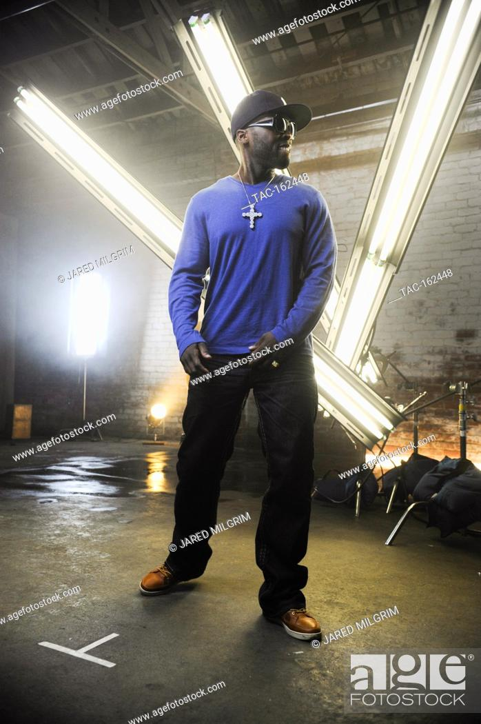 """Stock Photo: 50 Cent on-set at the Jeremih featuring 50 Cent Music Video for """"""""Down On Me"""""""" directed by Colin Tiley on November 17, 2010."""
